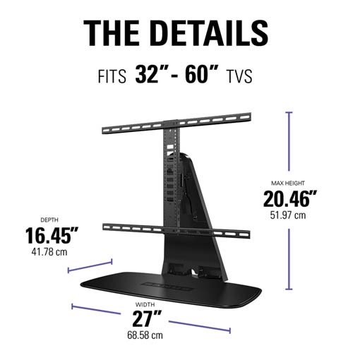 sanus swivel tv stand for playbase the details text lifestyle image