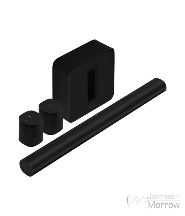 sonos arc surround set sub gen 3 one sl black profile product image