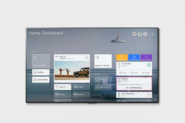 LG GX front home dashboard product image