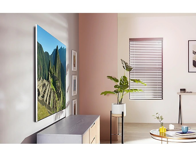samsung q950 wall front lifestyle image